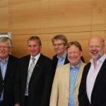 Bundestagsabgeordnete diskutieren an der Uni Würzburg am 6.7.2012